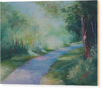 Path To The Pond Wood Print by Donna Pierce-Clark