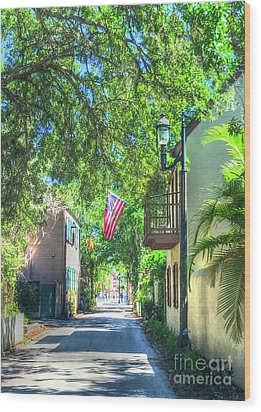 Patriotic Street Wood Print by Debbi Granruth