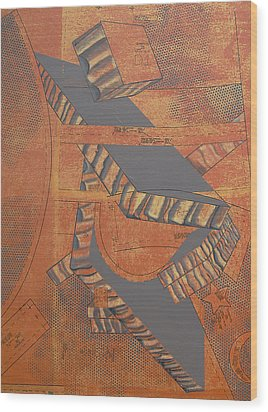 Patterns Series Number Three Wood Print by Sonja Olson