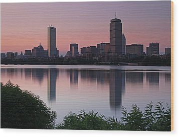Peaceful Boston Wood Print by Juergen Roth