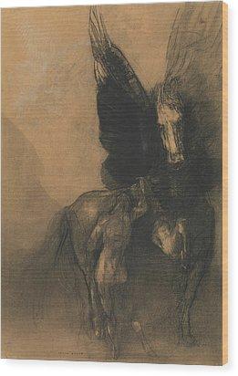 Pegasus And Bellerophon Wood Print by Odilon Redon