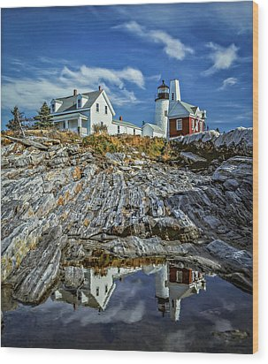 Pemaquid Reflections Wood Print