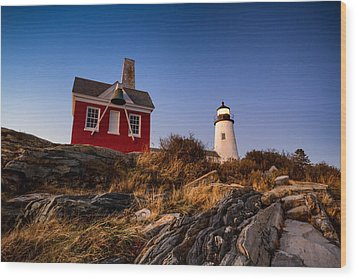 Wood Print featuring the photograph Pemaquid Sky by Robert Clifford