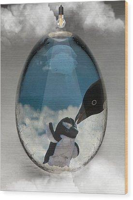 Penguins Art Wood Print