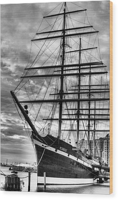 Penn Landing Wood Print by JC Findley