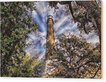 Pensacola Lighthouse Wood Print