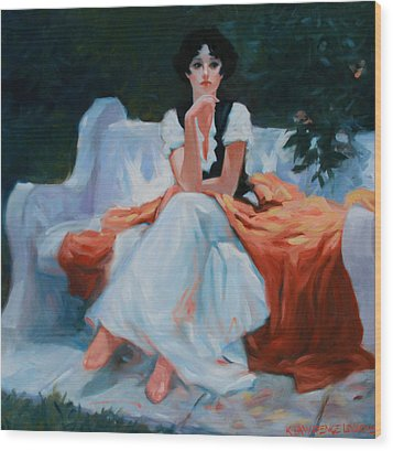 Pensive Pose Wood Print by Kevin Lawrence Leveque