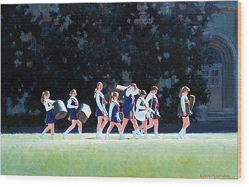 Pep Squad Wood Print by Kevin Lawrence Leveque