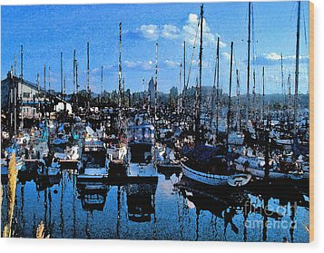 Wood Print featuring the photograph Percival Landing by Larry Keahey