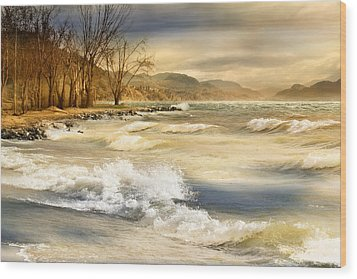 Perfect Storm Wood Print by John Poon
