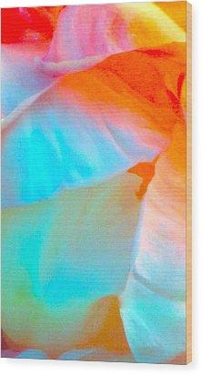 Petals Wood Print by Gwyn Newcombe