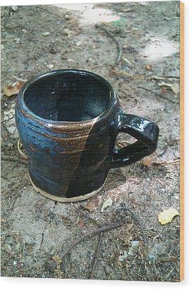 Petite Tea Cup Wood Print by Emily Osborne
