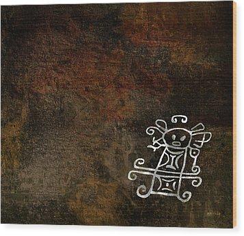 Petroglyph 2 Wood Print