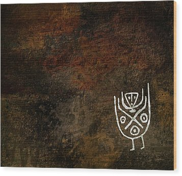 Petroglyph 3 Wood Print