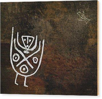Petroglyph 4 Wood Print