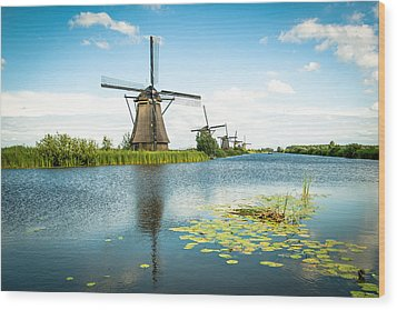 Wood Print featuring the photograph Picturesque Kinderdijk by Hannes Cmarits