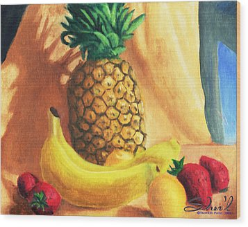 Pineapple Delight Wood Print