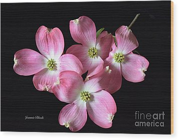 Pink Dogwood Branch Wood Print