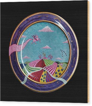 Pink Horse. Wood Print by Vladimir Shipelyov