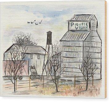 Pioneer Village Wood Print