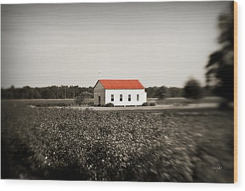 Plantation Church Wood Print by Scott Pellegrin