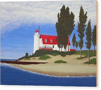 Point Betsie Lighthouse Wood Print by Frederic Kohli