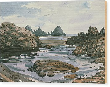Point Lobos Wood Print by Donald Maier