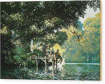 Pointe Pleasant Wood Print by Kevin Lawrence Leveque