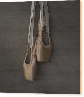 Wood Print featuring the photograph Sacred Pointe Shoes by Laura Fasulo