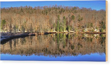 Wood Print featuring the photograph Pond Reflections by David Patterson
