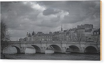 Pont Neuf Paris Wood Print