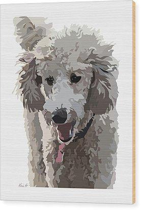 Poodle Portrait II Wood Print by Kris Hackleman