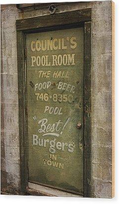 Pool Room Wood Print