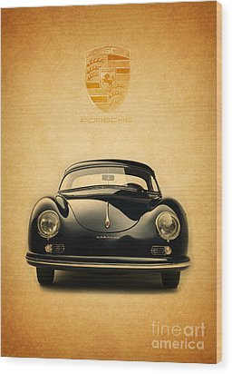 Porsche 356 Wood Print by Mohamed Elkhamisy