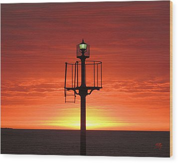 Wood Print featuring the photograph Port Hughes Lookout by Linda Hollis