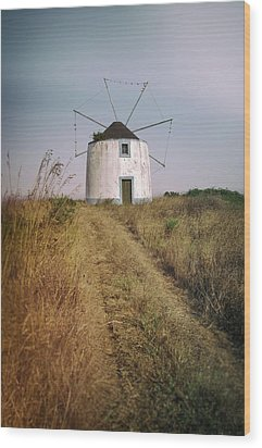 Wood Print featuring the photograph Portuguese Windmill by Carlos Caetano