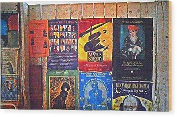 Poster Board Wood Print