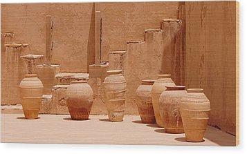 Pots Wood Print