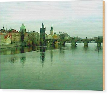 Prague  1 Jgibney 2000 City Bridge 2010 Wood Print by jGibney