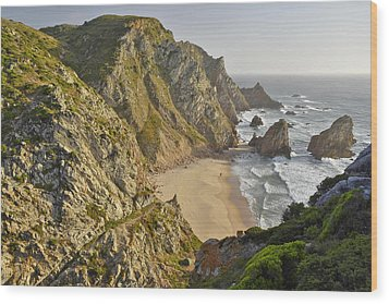 Praia Da Ursa Portugal  Wood Print