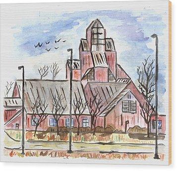 Prairie Holdings Building Wood Print by Matt Gaudian