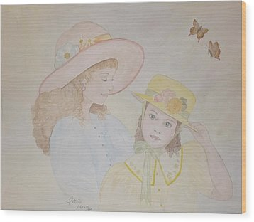 Prairie Sun Hats Wood Print