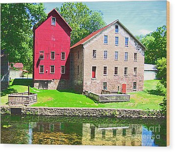 Prallsville Mill Wood Print by Addie Hocynec