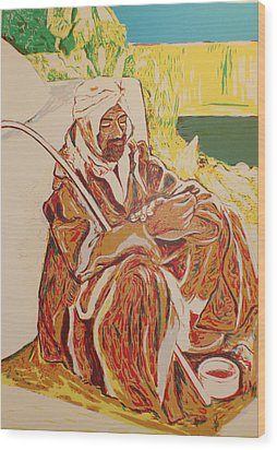 Prayer At Benghazi Wood Print by Biagio Civale