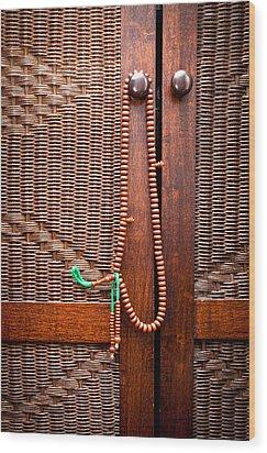 Prayer Beads Wood Print by Tom Gowanlock