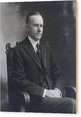 President Calvin Coolidge Wood Print by International  Images