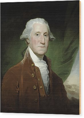 President George Washington  Wood Print by War Is Hell Store