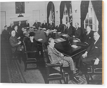 President Roosevelt Meeting Wood Print by Everett