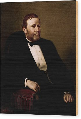 President Ulysses Grant Wood Print by War Is Hell Store