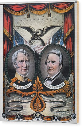 Presidential Campaign, 1848 Wood Print by Granger